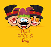 April fools day celebration card. Vector illustration design Royalty Free Stock Photo
