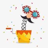 April fools day celebration card Stock Image