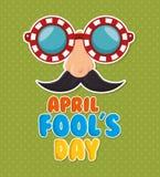 April fools day celebration card Royalty Free Stock Photos