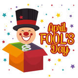 April fools day celebration card. Vector illustration design Royalty Free Stock Image