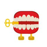 April fools  day chattering teeth. Illustration eps 10 Stock Photos