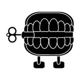 April fools  day chattering teeth pictogram Royalty Free Stock Images