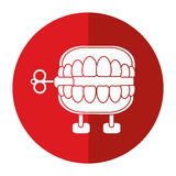 April fools day chattering teeth shadow Royalty Free Stock Photo