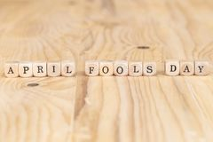 Close up word made from wooden letters on the table stock photos