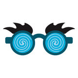 April fools  day crazy glasses Royalty Free Stock Image