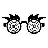 April fools  day crazy glasses pictogram. Illustration eps 10 Stock Photography