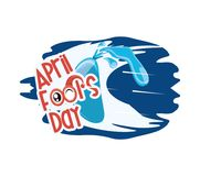 April fools day design. With water balloon icon over white background, colorful design vector illustration Royalty Free Illustration