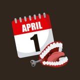 April fools day design Stock Photos