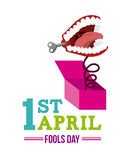 April fools day design Royalty Free Stock Images