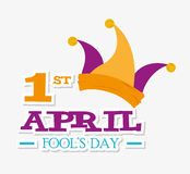 April fools day design. April fools day card design,  illustration Stock Photo