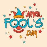April fools day design. Stock Photos