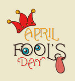 April fools day design. Royalty Free Stock Images