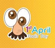 April fools day design. Stock Image