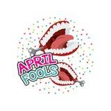 April fools day design Stock Photo