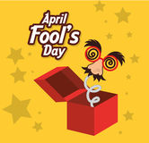 April fools day design. Royalty Free Stock Photography
