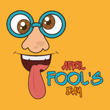 April fools day design. April fools day card design, vector illustration Stock Images