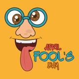 April fools day design. April fools day card design, vector illustration Vector Illustration
