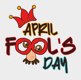April fools day design. Royalty Free Stock Image