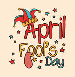 April fools day design. Stock Photography