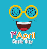 April fools day design. Royalty Free Stock Photo