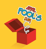 April fools day design. Stock Images