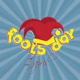 April fools day design Royalty Free Stock Photo