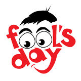 April fools day design Stock Photography