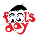 April fools day design. Vector illustration Royalty Free Illustration