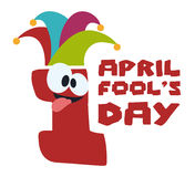 April fools day design, vector illustration. Stock Images