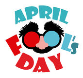 April fools day design, vector illustration. Royalty Free Stock Photo