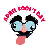 April fools day design, vector illustration. Royalty Free Stock Image