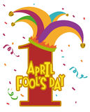 April fools day design, vector illustration. Royalty Free Stock Photos