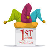 April fools day design, vector illustration. Stock Photos