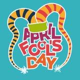 April fools day design, vector illustration. Stock Photo