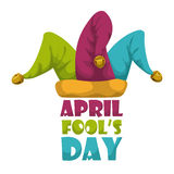 April fools day design, vector illustration. Royalty Free Stock Photography