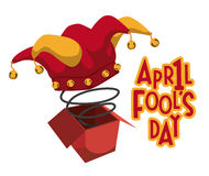 April fools day design, vector illustration. Royalty Free Stock Images