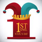 April fools day design, vector illustration. Stock Photo