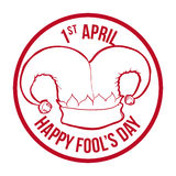 April fools day design, vector illustration. Stock Image
