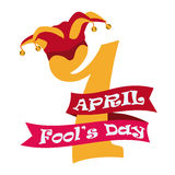 April fools day design, vector illustration. Stock Photography