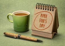 Free April Fools Day - Desktop Calendar Royalty Free Stock Photography - 213834747