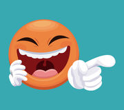 April fools day emoticon laugh Stock Photography