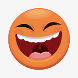 April fools day emoticon laughing. Illustration eps 10 Royalty Free Stock Images