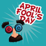 April fools day face prank text. Illustration eps 10 Royalty Free Stock Image