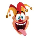 April fools day funny jester. Illustration eps 10 Vector Illustration