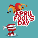 April fools day funny poster. Illustration eps 10 Royalty Free Stock Photography