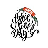April fools day Hand drawn lettering vector illustration
