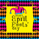 April Fools Day. Happy April Fools Day on a colorful background Stock Photo