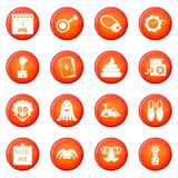 April fools day icons vector set Royalty Free Stock Images