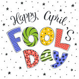 April fools day illustration Royalty Free Stock Photos