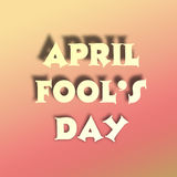 April fools day illustration over gradient background with text space Royalty Free Stock Images